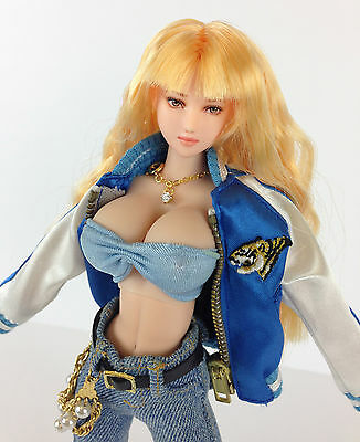 Volks Dollfie CUSTOM DOLL WITH DDD LARGE Bust HEAD AND FULL OUTFIT VERY RARE