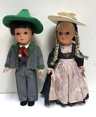 Vintage Austrian MELITTA Wien Boy & Girl Dolls Tyrolean Costumes 1950s