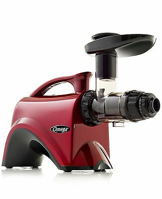 Omega NC800HDR Red Slow Speed Nutrition Center Masticating Juicer Red Brand New