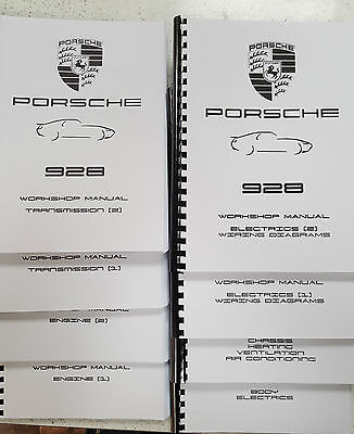 PORSCHE 928 WORKSHOP MANUAL REPRINTED 1978-1994 INC WIRING DIAGRAMS