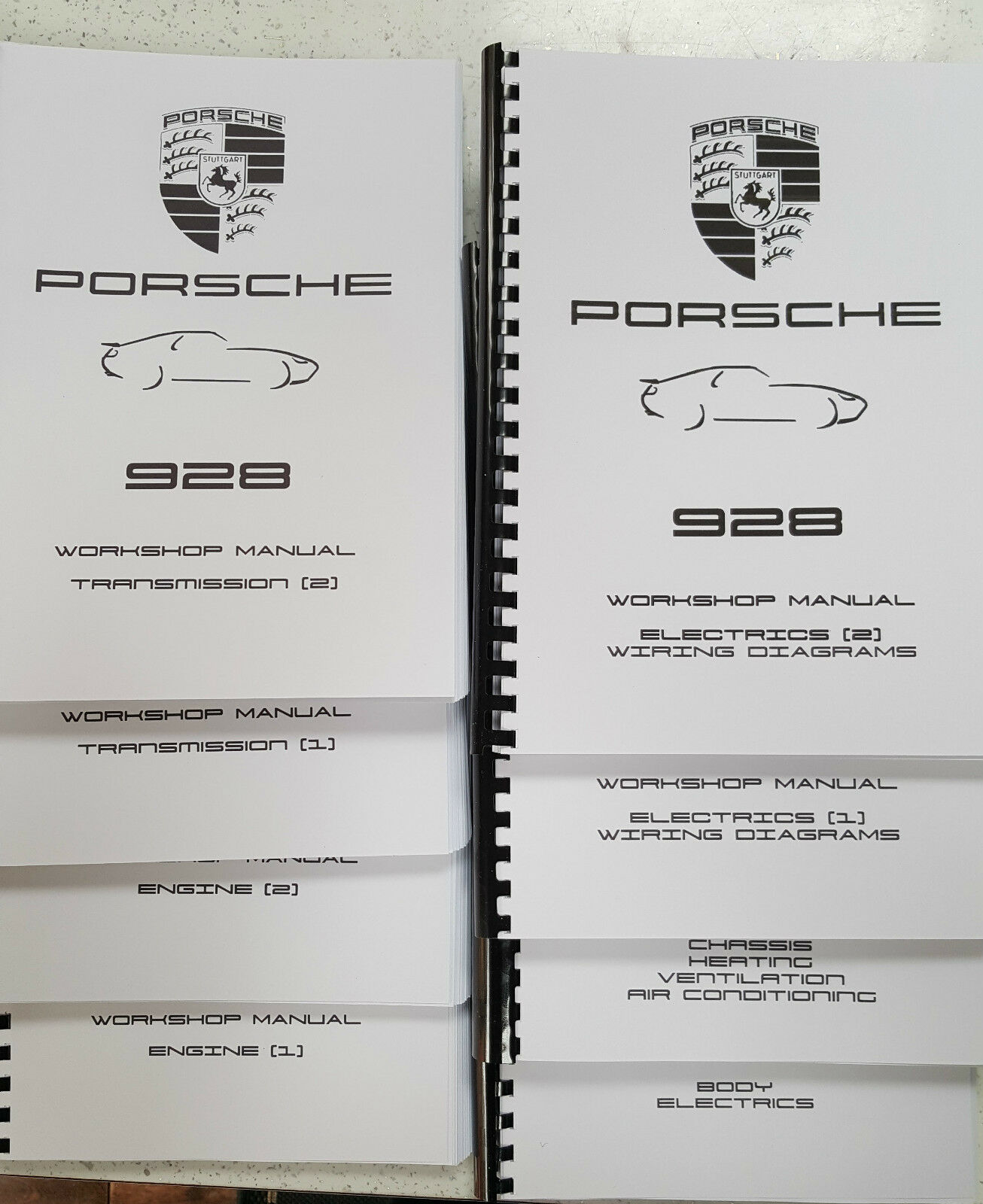 PORSCHE 928 WORKSHOP MANUAL REPRINTED 1978-1994 INC WIRING DIAGRAMS