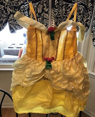 Halloween Dress Up Pretend Costume Princess Belle Dress Preowned Sz - Belle Halloween Dress