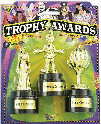 Plastic Halloween Costume Contest Trophy Awards 3 Set