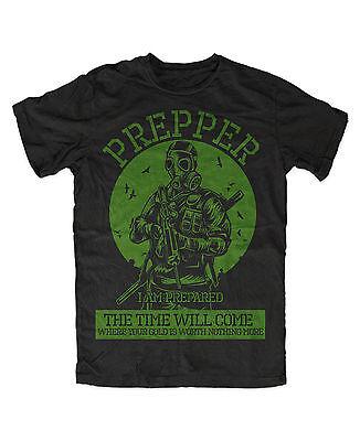 Prepper T-Shirt Apokalypse,Survival,Schutz,Katastrophe,Krise,Zombie,Jagd,Hunt