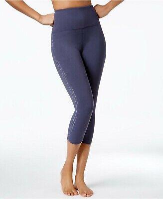 Gaiam Tyra Om Women's Yoga Capri Leggings Odyssey Grey X-Small Size Macy's