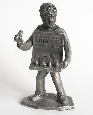 7 cm Frau mit Spinnrad Daalderop Holland ca Zinn Figur Berufe Spinnerin