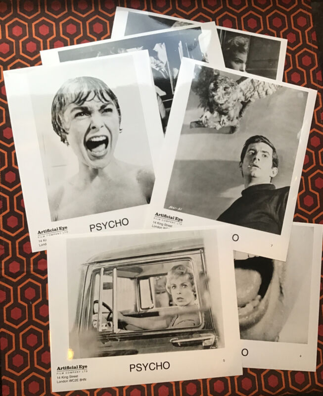 PSYCHO Press Kit Photos Horror X 6 Official Alfred Hitchcock