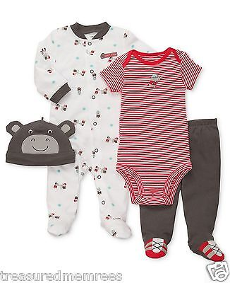 Carter's 4 Piece Daddy's Allstar Coveralls, Bodysuit, Pants & Hat ~Size 3 Months