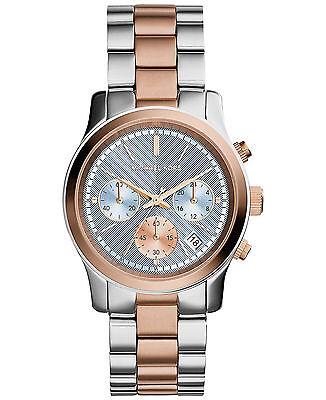 NEW Michael Kors MK6166 Chrono Runway Two-Tone Women's Watch,