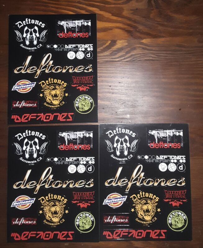 The Deftones Rare Collectable 10 Stickers Sheet - Promo B-side & Rarities cd/dvd