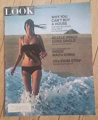 LOOK MAGAZINE FEBRUARY 10 1970 BEATLE RINGO 70S SWIM STRIP INSIDE MAO CHINA