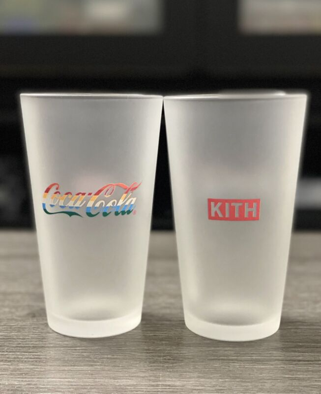 1 Kith X Coca-Cola Season 5 2020 Glass Cups - In Hand Ready To Ship