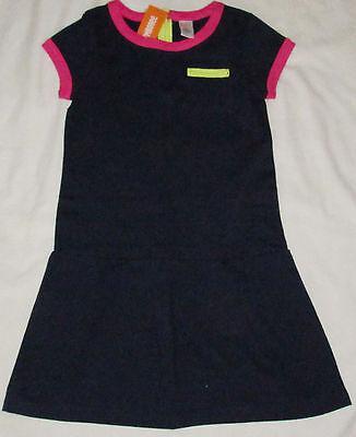 Gymboree Bright Ideas Navy blue pink yellow dress NWT 10
