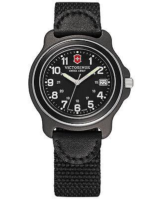 NEW Victorinox Swiss Army Black Quartz Analog Men's ORIGINAL  Watch 249090