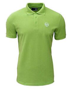 Sergio tacchini men 39 s heigham polo t shirt lime green ebay for Mens lime green polo shirt