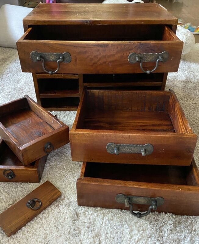 Antique Japanese Tansu Small Chest