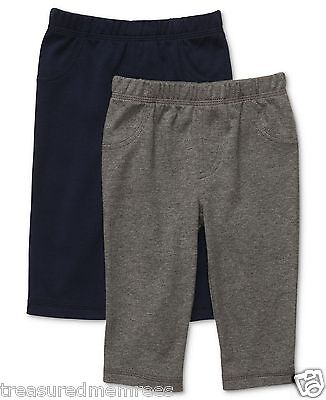 Carter's 2 Piece Pants Set ~ Gray & Navy ~ Size 6 Months ~ NWT