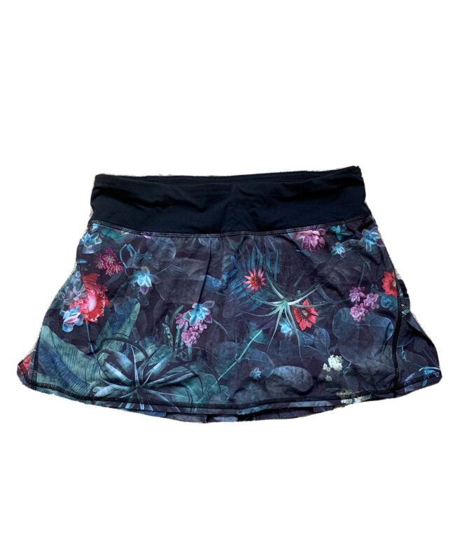 Lululemon Run: Pace Setter Skirt Skort Curious Jungle / Black sz 4 tennis rare