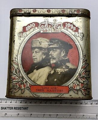Dated 1935 Tin - George V x25 Reign - British Royal Family - GRIPS PASTELS