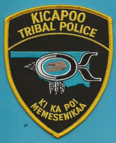 OKLAHOMA KICAPOO TRIBAL POLICE SHOULDER PATCH