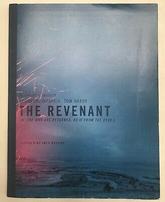 The Revenant Film Script 115 pages purchased from Screen Actors Guild Fundraiser