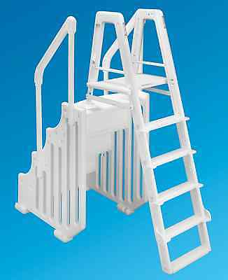 """Ocean Blue 38"""" Mighty Step & Ladder Set Aboveground Swimming Pool Entry System"""