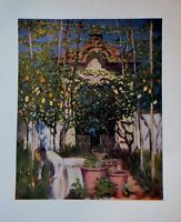 1904 Cromolitografia.colori.old Garden Gateway, Sorrento Napoli Di A.fitzgerald. -  - ebay.it