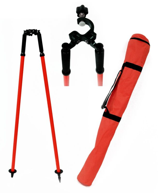 AdirPro Thumb Release Red Bipod, For Surveying Total Station, GPS,Seco