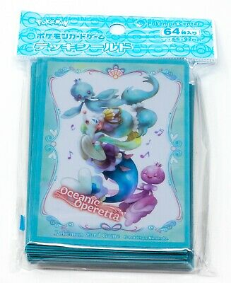 Pokemon Center TCG Japanese Oceanic Operetta Primarina 64 Card Deck Sleeves