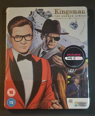 Kingsman The Golden Circle 4K Steelbook Bluray UK Edition New & Sealed