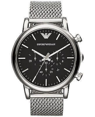 Emporio Armani Classic Watch Black/Stainless Steel Quartz Men's Watch AR1808