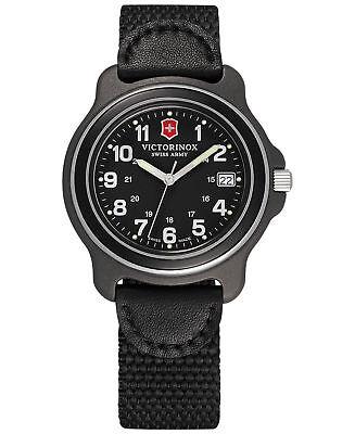 NWT  Victorinox Swiss Army Black Quartz Analog Men's ORIGINAL  Watch 249090