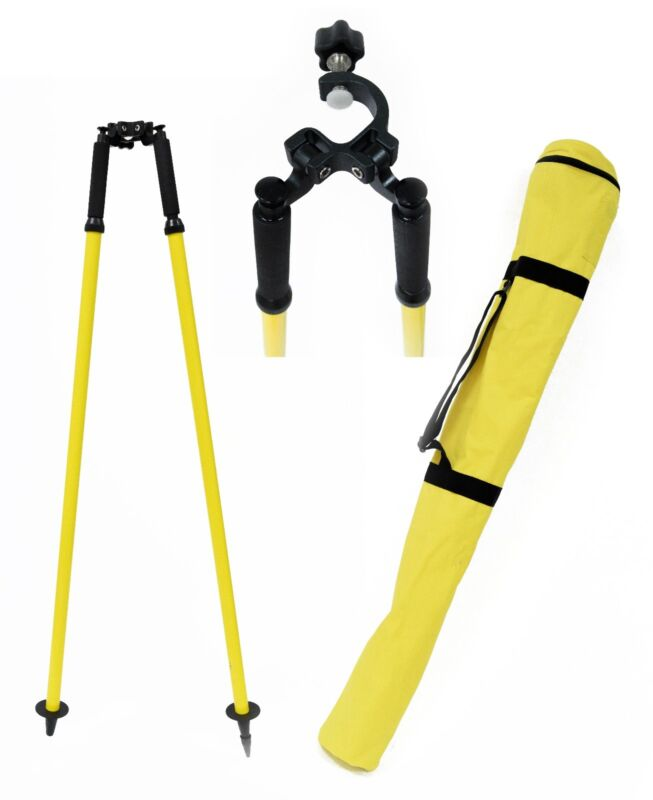 AdirPro Prism Pole Bipod Thumb Release Range Yellow 760-02, Surveying, Topcon