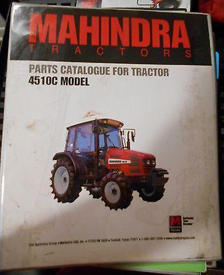 Mahindra Tractor Parts Catalog 4510 C Models Manual