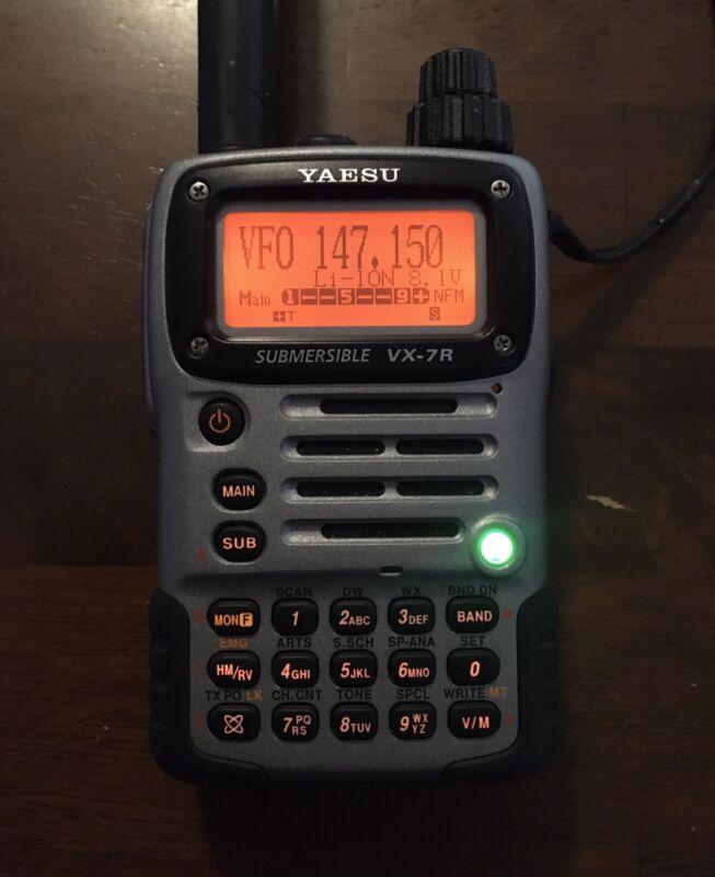 Yaesu VX-7R 6M 2M 1.25M 70CM Handheld Transceiver Silver
