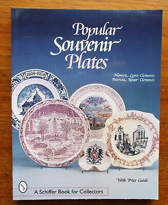 POPULAR SOUVENIR PLATES Price Guide & Identification Guide BOOK Monica Clements Collector Plates Price Guide
