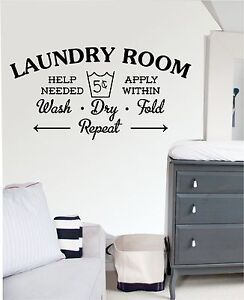 laundry room wall art sticker decal mural kitchen laundry room sticker wall art il fullxfull 612792328 nbfm