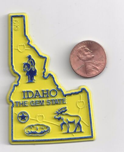 """IDAHO  """"THE GEM STATE """"  ID    OUTLINE MAP MAGNET  NEW"""