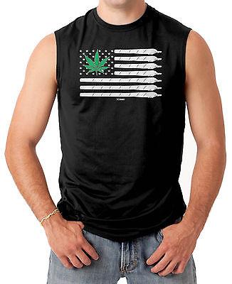 Marijuana American Flag - USA Weed Pot Men's SLEEVELESS T-sh