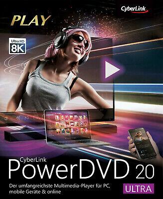 CyberLink PowerDVD 20 Ultra Lebenslange Digitale Lizenz / Download-Link