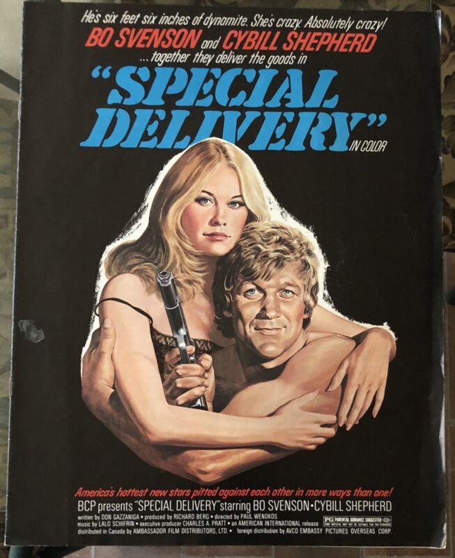 SPECIAL DELIVERY (1976) Bo Svenson, Cybill Shepherd Pressbook