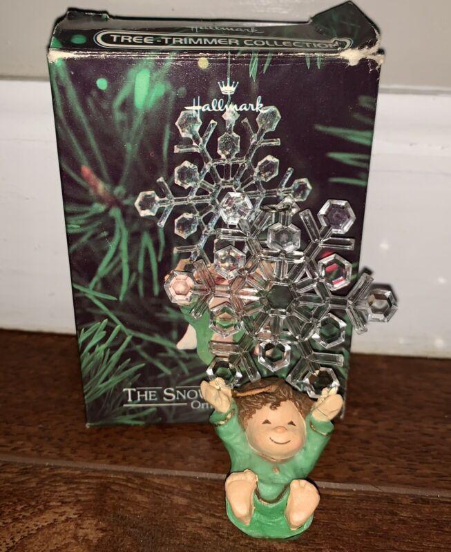 1980 Hallmark Christmas Angel The Snowflake Swing Ornament W/Box Vintage