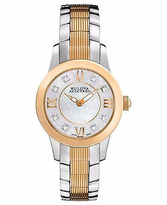 Accutron Women's 65P106 Diamond Markers Rose Gold and Silver Quartz Dress Watch
