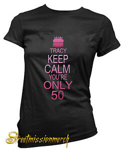 50th-BIRTHDAY-PERSONALISED-LADIES-T-SHIRT-GIFT-CELEBRATION-all-sizes-available