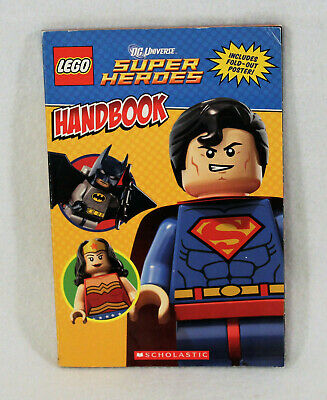 2013 Lego DC Universe Super Heroes Villains Handbook 0545552257 Pull Out Poster