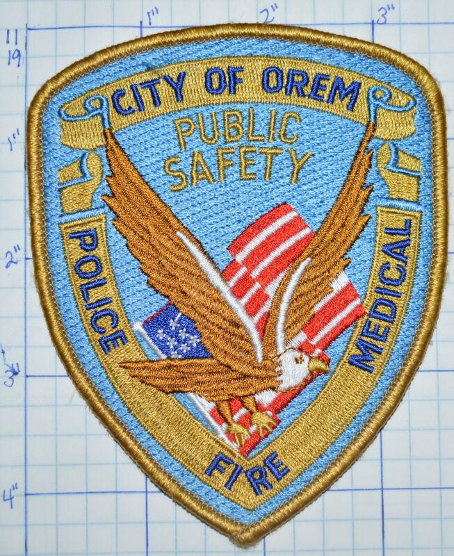 UTAH, CITY OF OREM POLICE FIRE MEDICAL PATCH