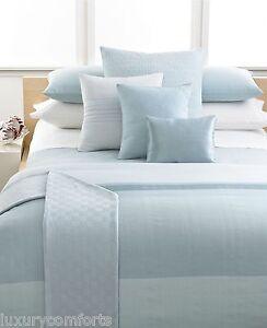 Calvin klein studio bedding laguna rib stream queen duvet for Studio one bed cover