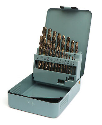 21 Pc Drill Bit Set M35 Cobalt for Metal Aluminum, Stainless Steel 1/16-3/8 Inch (3 Stainless Steel Bit)