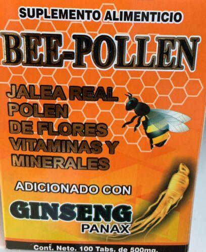 Jalea Real Ginseng Panax Calcio Hierro Vitamina B Polen 100 Tabletas