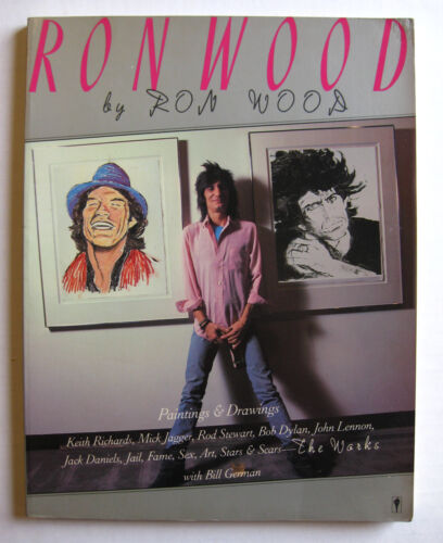 RON (RONNIE) WOOD Works 1987 AUTOGRAPHED First Edition BOOK Rolling Stones VG+